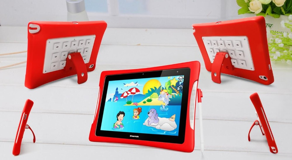 NFC 8 inch kids tablet pc FHD andriod student tablet with Free Soft Silicone Cover Case