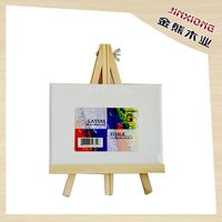 Wooden Kids Mini Easel And Canvas