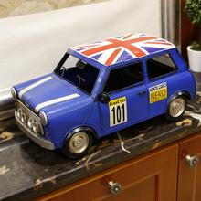 Mettle Iron English Style Mini Handmade Big Size Iron Metal Craft Bubble Car Model For Home And Office Decoration