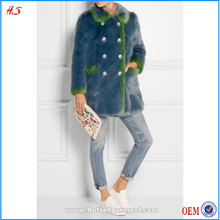 Wholesale orders mature women wear global best selling coats blue woman clothes faux fur coat