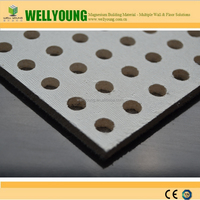 perforated acoustical ceiling board/ MGO/595*595mm/wall panel