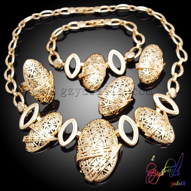 Spain V-shape jewelry sets cheap and nice party jewelry sets elegant high-quality costume jewelry set