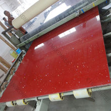 Wholesales red composite quartz for countertop