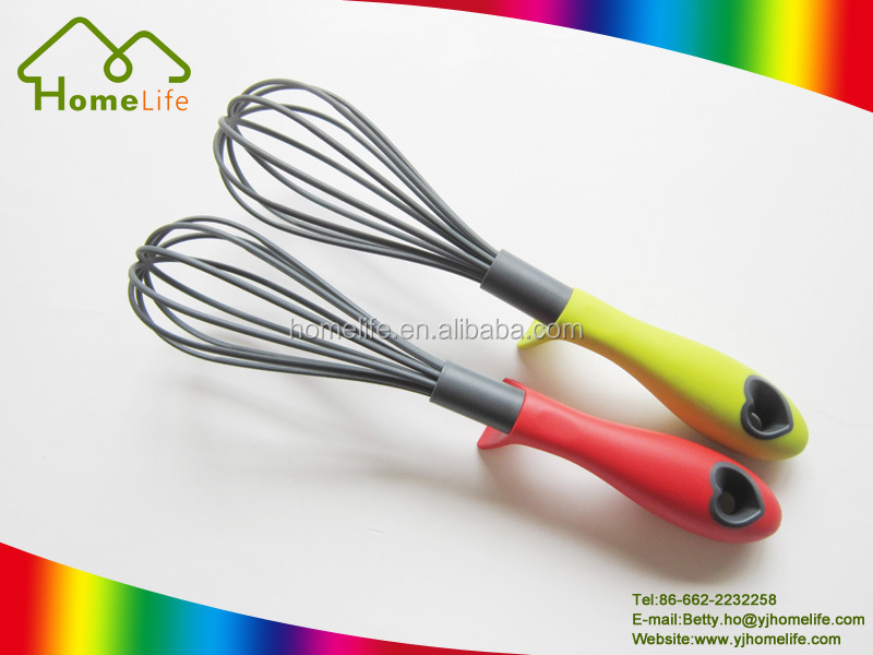 High quality non-stick nylon egg whisk decorating tools plastic egg whisk