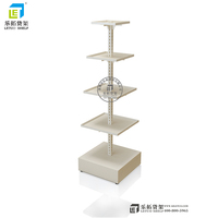 2017 New Advertising Retail Wheel Flooring Metal Socks Product Cell Phone Accessory Rack Nail Polish Display Stand