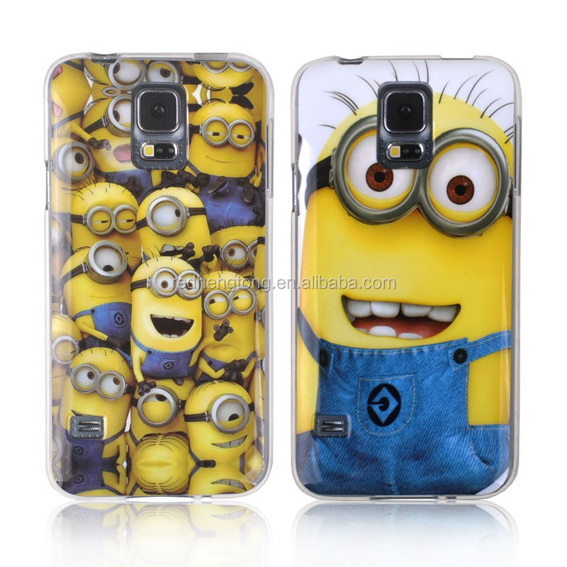 Despicable Me Minion Cartoon Soft TPU S5 Cell Phone Case Cute Cover for Galaxy S5