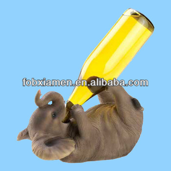 Elephant Shape Novelty Ceramic Wine Bottle Holder