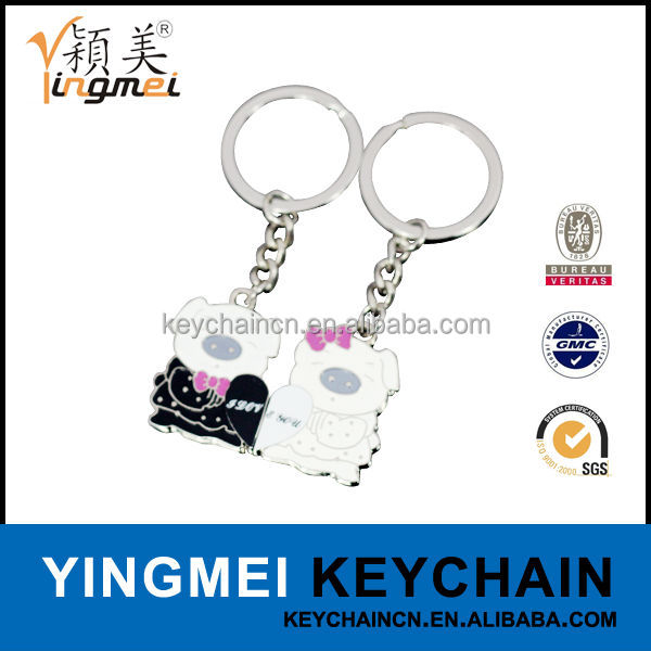 Promotional logo custom key hotel key ring
