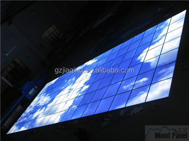 big size ceiling led art photo light panel