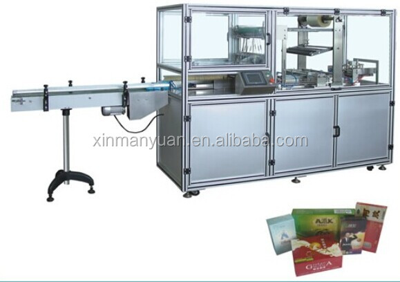 Packaging machine for cardboard boxes, paper box packing machine