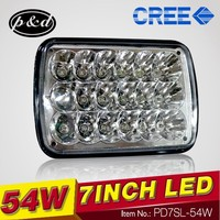 High Performance square 7 inch headlight sealed beam type for off road