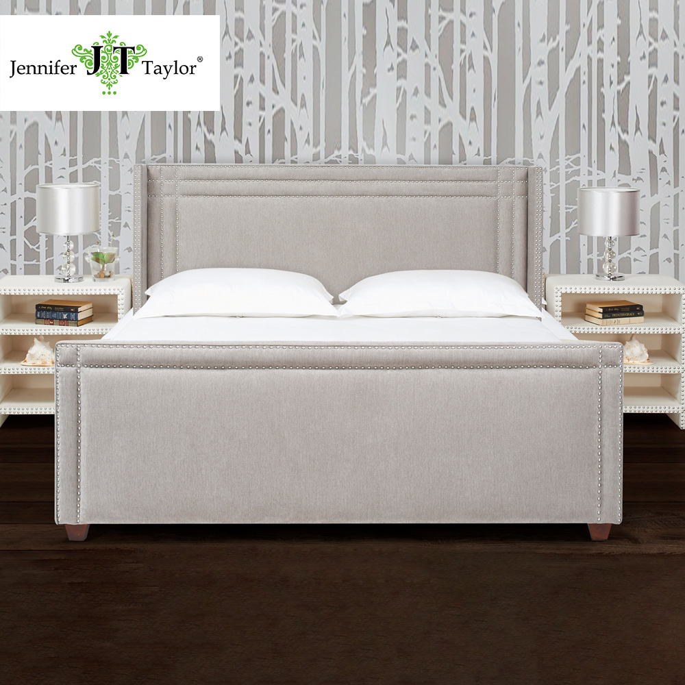 King size home furniture KD headboard bed set