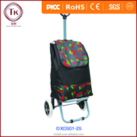 Large capacity foldable shopping trolley bag with wheels