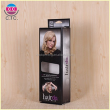 Customized cheap virgin hair extension packaging box