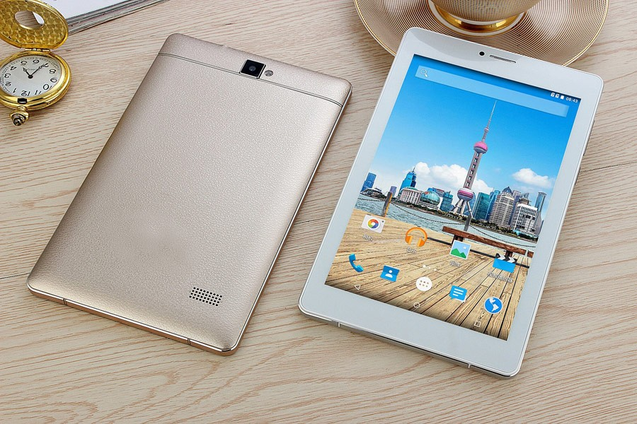 OEM China Manufacture HD 1280*800 Screen Quad Core 3G Calling Tablet Phones Android Tablet 7 Inch With Leather Back Case