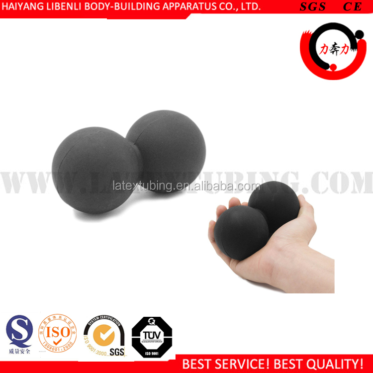 Strong Solid Rubber Double Lacrosse Ball Massage Ball