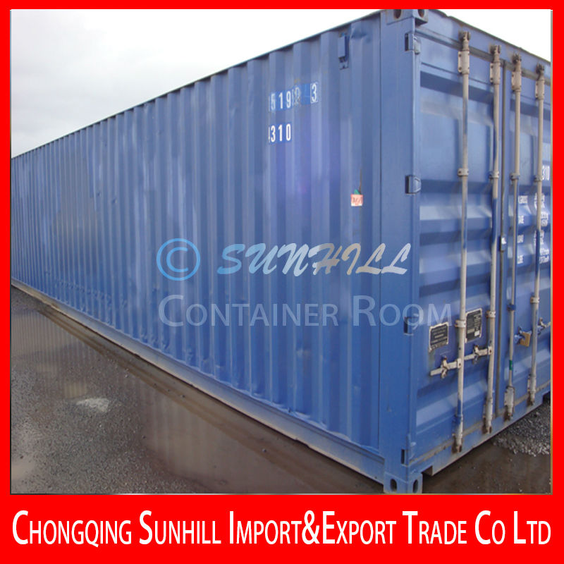 40ft High Cube ISO Dry Shipping Container with CSC Certification in Shanghai