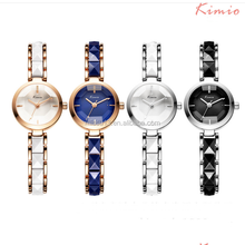 2017 new style small dial wrist rhinestone lady China fashion 6120 kimio enamel strap Waterproof watch