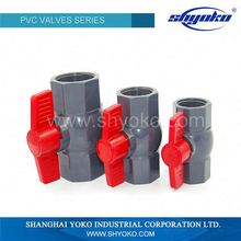 Manufacturer pvc pipe water compact ball valve