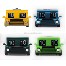 mini cool car shaped desk flip clock with multi color for children
