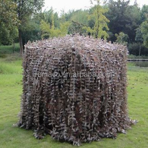 Waterproof Hunting Blind Hunting Ground Blind With Camo Leaves Hide Cover and window GB8254