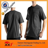 men's big & tall cotton polyester short sleeve wicking pocket tee