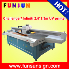 Infiniti/challenger 2500mm*1250mm large size uv flatbed printer with Seiko spt1020 head.