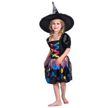 Girls Fancy Dress Children's Day Stage Performance Clothing Halloween Black Witch Cosplay Costume