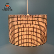 Linen Fabric Clip Lamp Shades for Candle Crystal Chandelier
