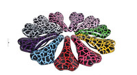 colorful leopard fixed gear bicycle saddle seat