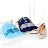 Waterproof Non woven Drawstring Travel Wash Pouch Shoe Clothes Storage Bag
