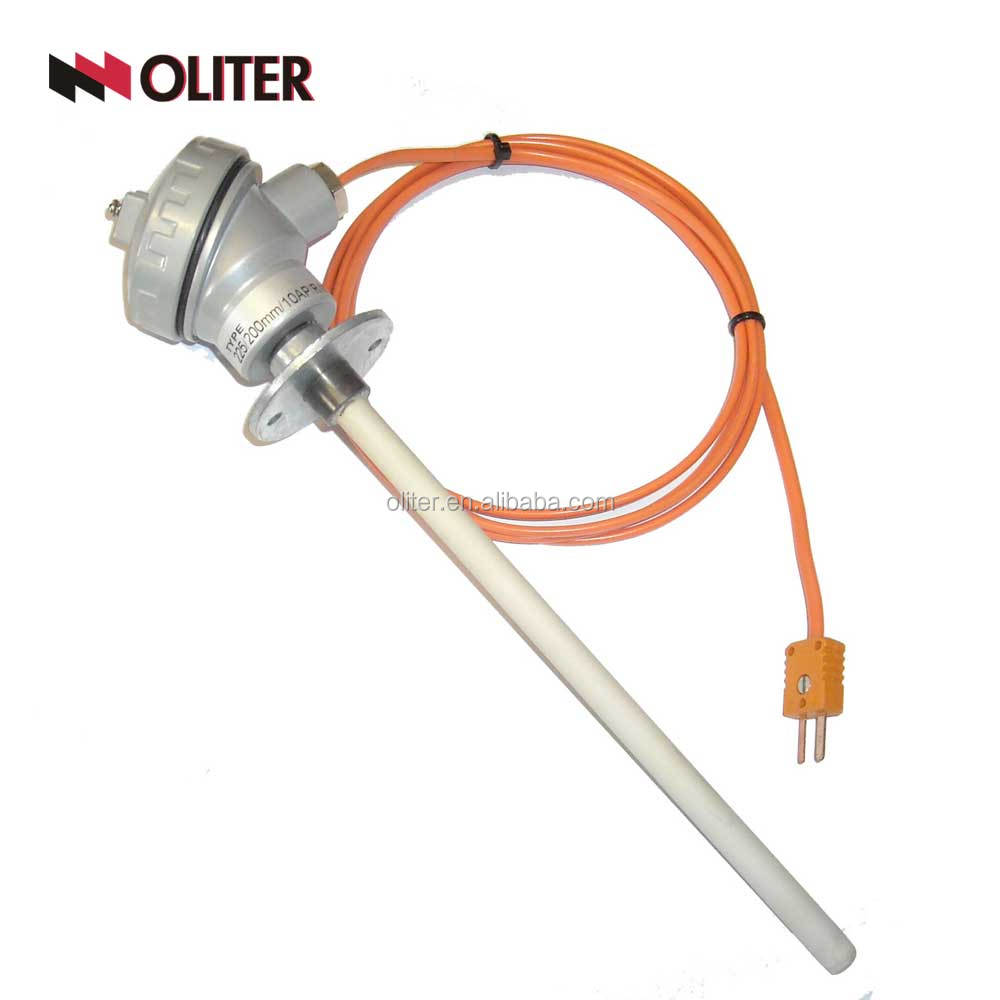 k armored thermocouple with compensation wire assembly e type thermocouple with thermowell stainless steel