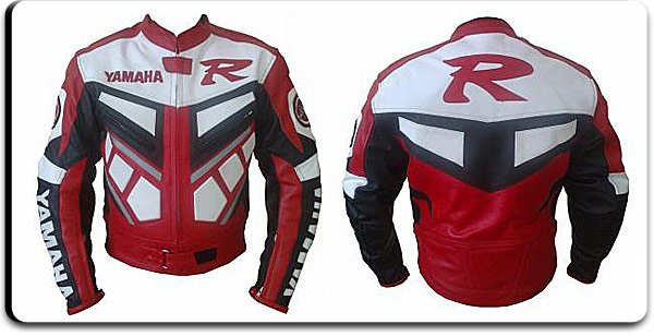 """Y-R1""Red & Black Racing Motorbike Leather Jacket"