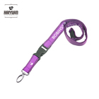 purple personalized lanyard card holder