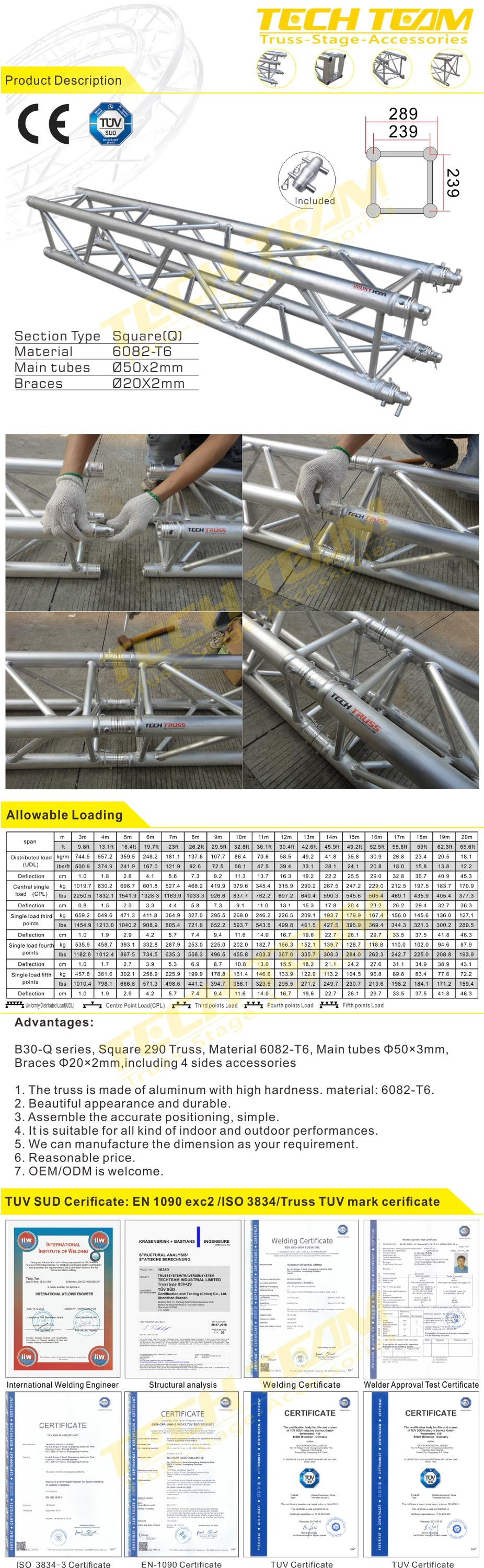C30-QR Aluminum square circle truss , circle truss for sale