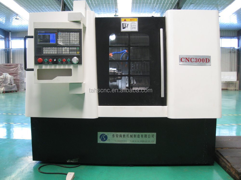 Slant bed lathe mill combo CNC300D CNC turning milling drilling machine