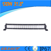 dual row 21.5 inch 120w curved offroad bull bar led light bar