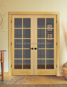 Factory wholesale interior double swing french doors buy for Buy french doors