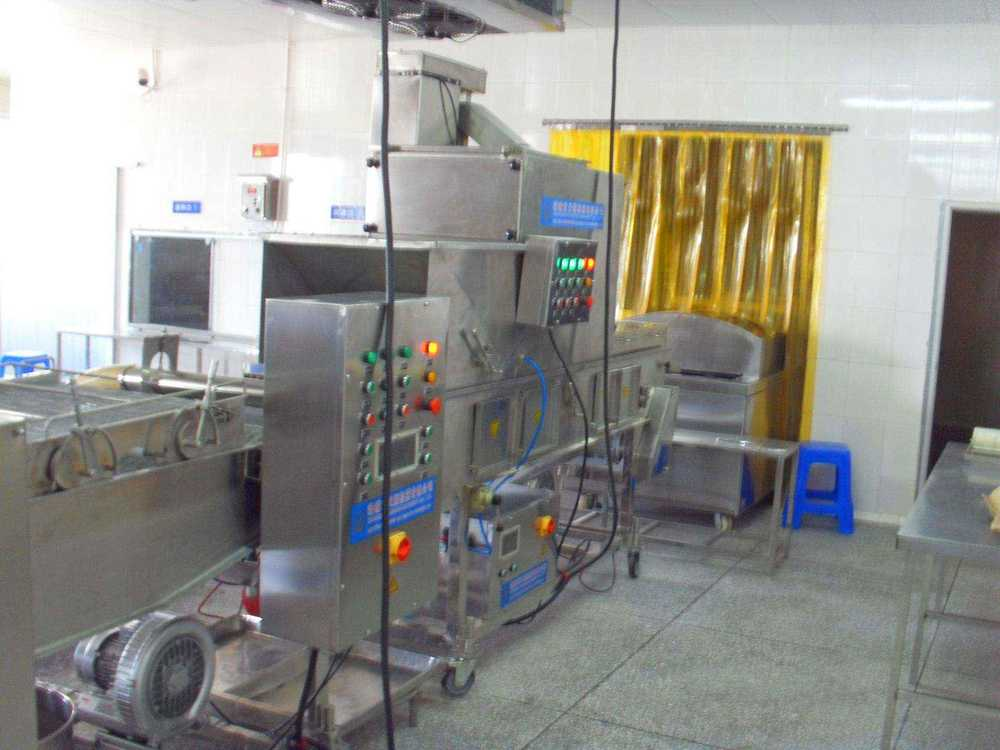 Hamburger, chicken, fish steak sizing machines (conc.)