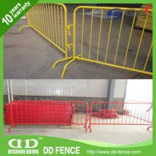 steel traffic fence / hot dipped galvanized metal crowd control barrier / interlocking steel barrier
