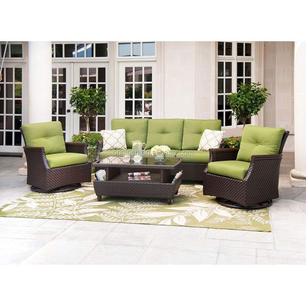 Santa Monica swivel glider chair and storage Western Coffee Tables