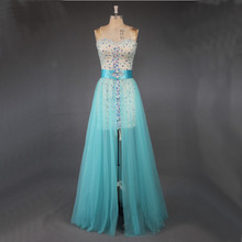 Sexy Prom Dress with Removable Over Skirt 2018 Cocktail Dresses Party Wear Gowns For Ladies