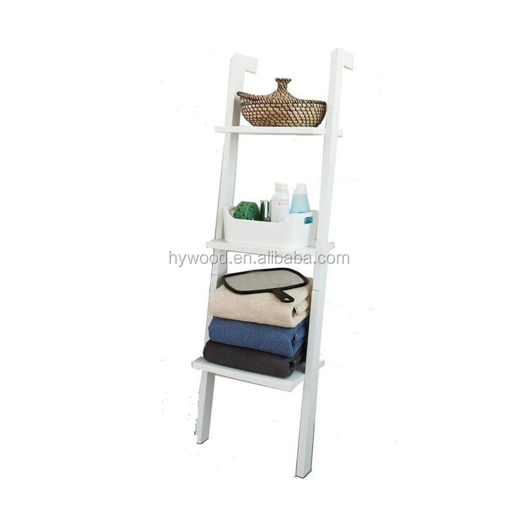 Customized Room Furniture Modern Wood Ladder Shelf Bookcase