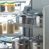 Stainless Steel Swivel pull-out basket For Kitchen Cabinet /magic corner
