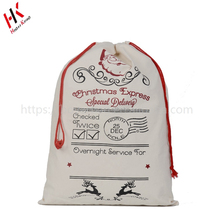 Wholesale Stock Christmas Holiday Cotton Canvas Bag