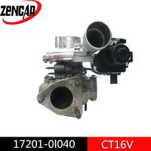 12 month warranty OEM supplier small turbocharger for toyota hilux vigo turbo 17201-30110 ct16v turbocharger