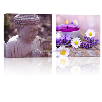 Buddha Canvas Wall Art Prints Well Designed Buddha with Lavender Wall Decor Art Gallery wrapped for Home Decor