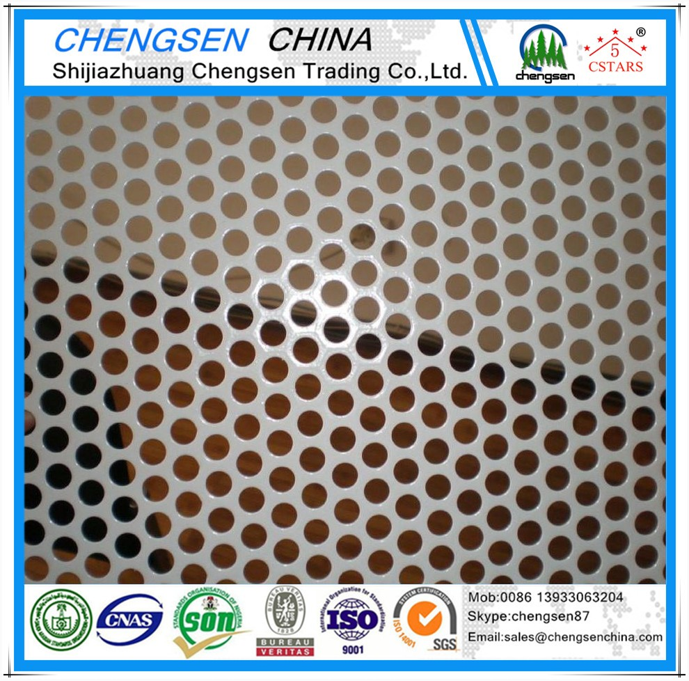 Construction material powder coating flower pattern perforated metal screen price list