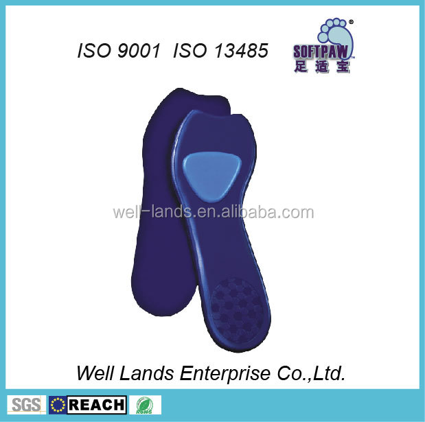 3/4 ultra thin dress shoes fabric Silicone Gel shoe Insole