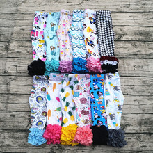 Super cute style girls icing leggings printed wholesale baby ruffle pants children fashion pants